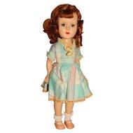 """Unmarked American Character 1950s Auburn 15"""" Sweet Sue Walking Doll"""