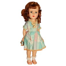 """Unmarked 1950s Auburn 15"""" Walking Doll"""