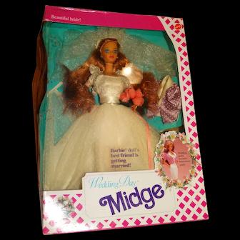 Barbie NRFB 1990 Wedding Day Midge Doll