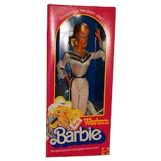 NRFB 1980 Western Winking Barbie Doll