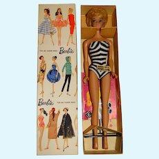 Vintage White Ginger 1961 Bubblecut Barbie Doll w/Box