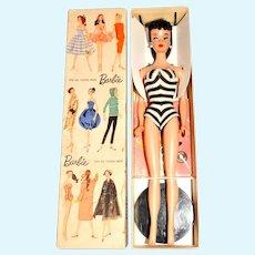 Vintage Brunette #4 Ponytail Barbie Doll w/Box