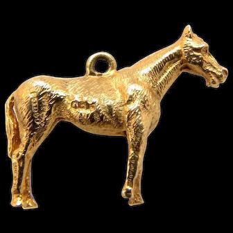 Vintage British 9k Gold Charm Horse
