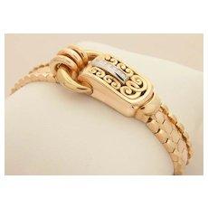 18k Rolex Watch Diamonds. Ladies retro