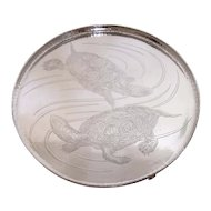 1900's Whiting Sterling Silver Salver Very Very Rare Turtle Motif