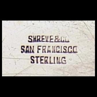 Shreve & Co. San Francisco Sterling Gravy / Sauce Boat and Tray