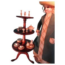 SALE  Miniature Mahogany Dumb Waiter Revolving LAYAWAY AVAILABLE