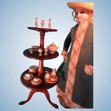 Miniature Mahogany Dumb Waiter Revolving LAYAWAY AVAILABLE