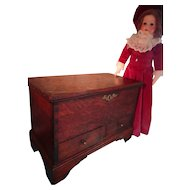 SALE Antique English Chippendale Miniature Blanket Chest LAYAWAY AVAILABLE