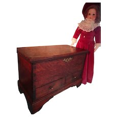 Antique English Chippendale Miniature Blanket Chest LAYAWAY AVAILABLE