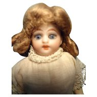 "5"" Bisque Doll on Composition Body"