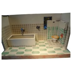 German Tin Bathroom with Bath Tub and Toilet