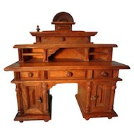 SALE German Oak Doll House Desk Large Scale