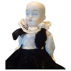 SALE All-Bisque German Jointed Limb Doll 5 1/4""
