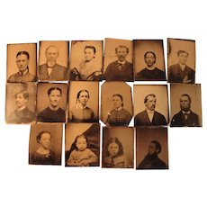 Sixteen TinTypes for Frames and Albums - Red Tag Sale Item