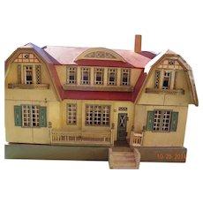Gottschalk Red Double Dutch Roof Doll House
