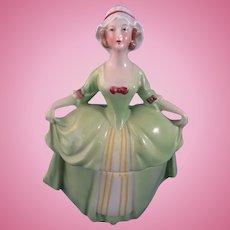 German Porcelain Dresser Box with Hands Away