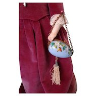 SALE Fabulous Hand Painted Easter Egg Doll Purse for French Fashion