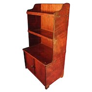 Miniature Antique Walnut Step Back Cupboard for Doll House Large Scale