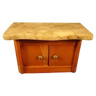 Marble top Golden Oak Chest for Doll House