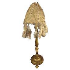 SALE Doll House Gilt Wood Floor Lamp