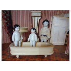SALE Doll House Bathroom German Bathtub, Toilet, Sink