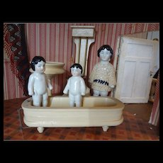 SALE Doll House Bathroom German Bathtub, Toilet, Sink