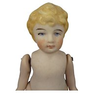 "4 1/2"" All Bisque Jointed German Child"