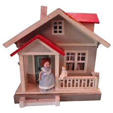 SALE Gottschalk Red Roof Two Room Cottage Bungalow with Front Porch