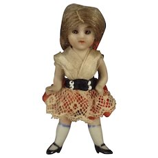 All Bisque Doll with Glass Eyes and Pin Jointed Limbs