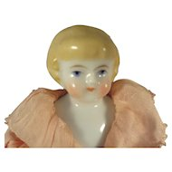 "6"" Blonde Hair China in Lovely Peach Chiffon Dress"