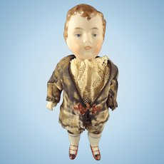 """Kestner  5 1/2"""" Boy with Molded Hair and Open/Close Mouth"""