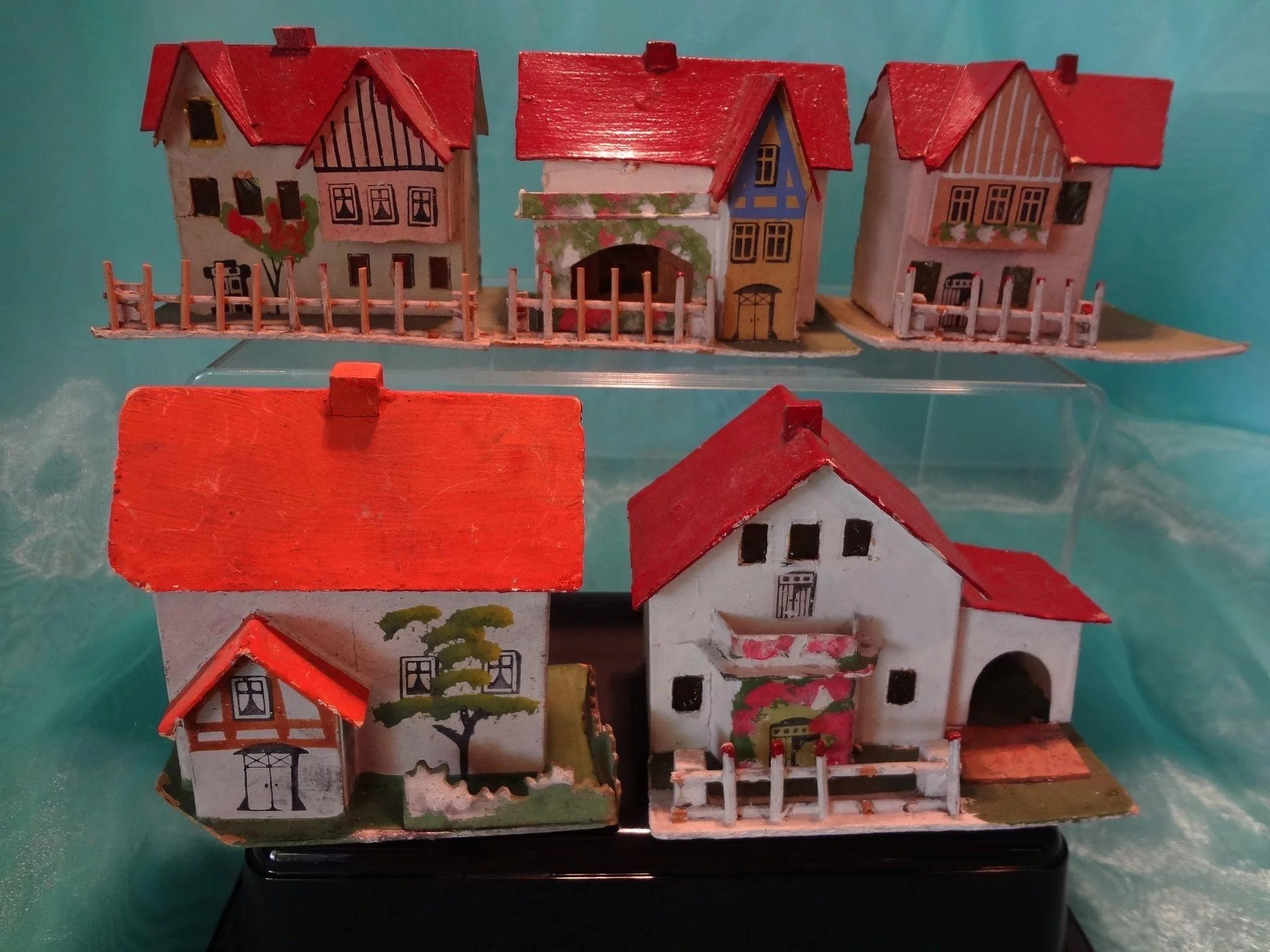Siding For Sale >> German Christmas Village of Card Stock Houses in Amazing ...