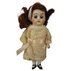 """SALE All Bisque 4 1/2"""" Doll with Sleep Eyes and Jointed Limbs"""
