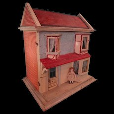 SALE Christian Hacker Antique Two Room Doll House LAYAWAY AVAILABLE