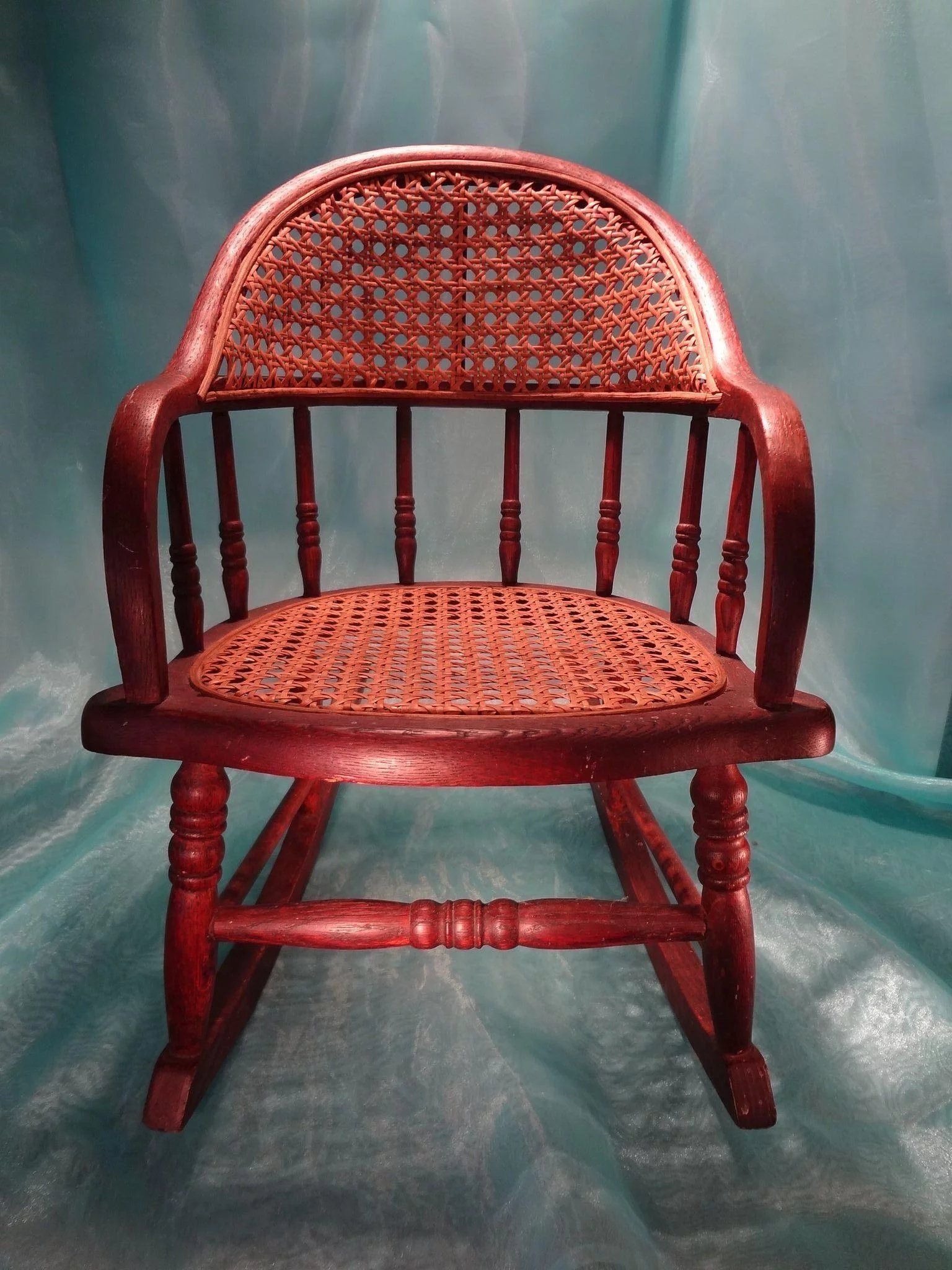 Antique Cane Seat And Back Rocking Chair Jackie Everett