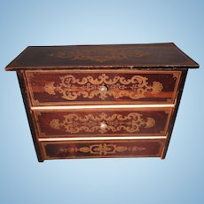 Biedermeier Large Scale Two Drawer Chest with Boule