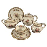 "Coalport ""Ming Rose"" Miniature Tea Set from England"