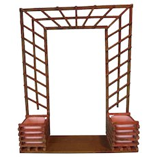 SALE  Great Wooden Architectural Display Background as Planter