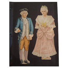 SALE  Complete Set of Antique Paper Doll Family by M., C & K Company