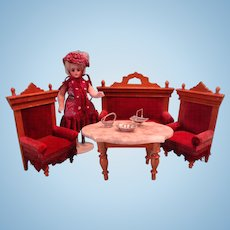 Beautiful Doll House Sofa and Chairs from Germany