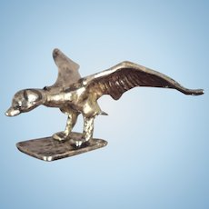 Metal Goose Landing with Wings Outstretched