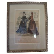 Framed Fashion Print from the Journal Le Printemps