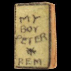 """Teeny Tiny book """"My Boy Peter"""""""
