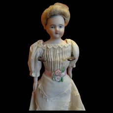 """7"""" Doll House Lady with Lovely Painted Face and Beautiful Dress"""
