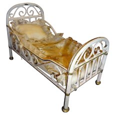 Beautiful Doll House Marklin Bed with Mattress and Bedding
