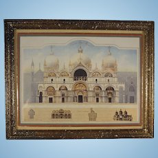 Framed Doll House Picture Signed Jeffrey Steele