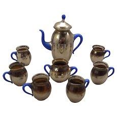 SALE Beautiful Mercury Glass Miniature Doll House Tea Set
