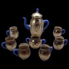Beautiful Mercury Glass Miniature Doll House Tea Set