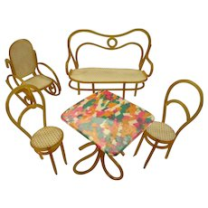 Doll House or Miniature Set of Patio Furniture